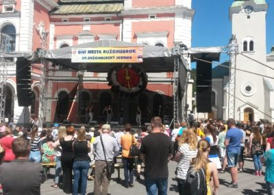 Ružomberský jarmok – vystúpenia tanečných ZÚ Hip-Hop 5.-9. a Hip-Hop SŠ